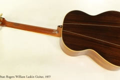 Stan Rogers William Laskin Guitar, 1977  Full Rear VIew