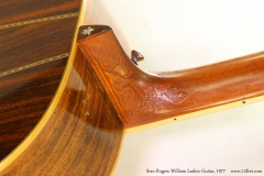 Stan Rogers William Laskin Guitar, 1977  Heel Treble Side View