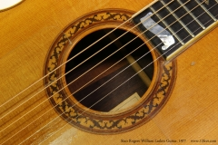Stan Rogers William Laskin Guitar, 1977  Rosette and Banner View