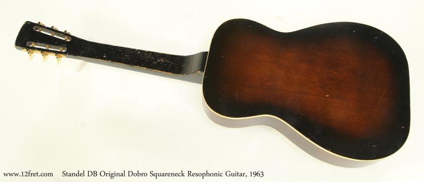 Standel DB Original Dobro Squareneck Resophonic Guitar, 1963  Full Rear View