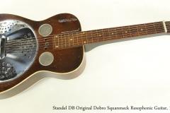 Standel DB Original Dobro Squareneck Resophonic Guitar, 1963  Full Front VIew