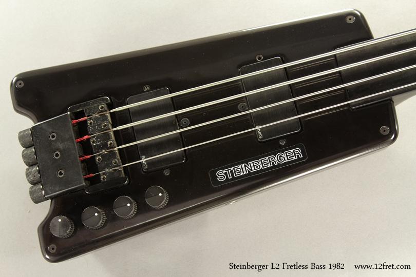 Steinberger L2 Fretless Bass 1982 top