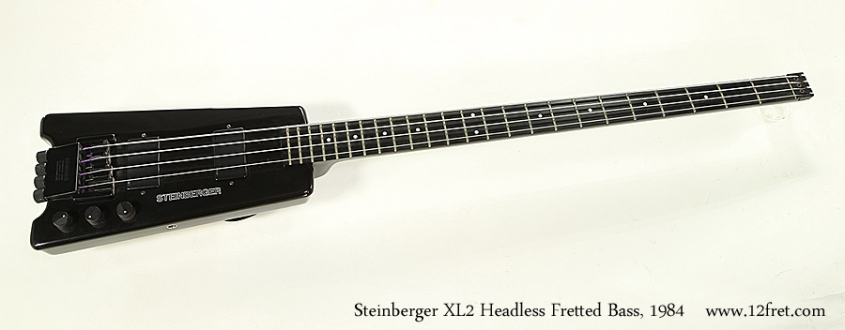 Steinberger XL2 Headless Fretted Bass, 1984 Full Front View