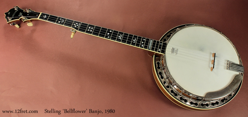 Stelling Bellflower Banjo 1980 full front view