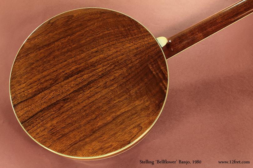 Stelling Bellflower Banjo 1980 back
