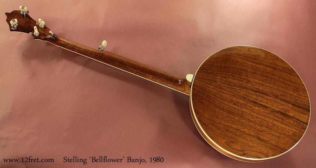 Stelling Bellflower Banjo 1980 full rear view