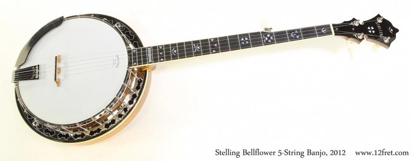Stelling Bellflower 5-String Banjo, 2012 Full Front View