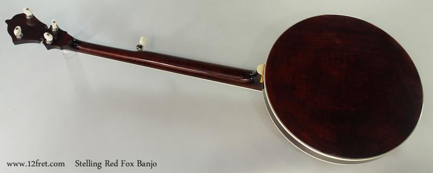 Stelling Red Fox Banjo, 2015 Full Rear View