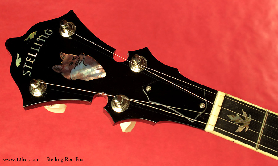 Stelling Red Fox Banjo head front view