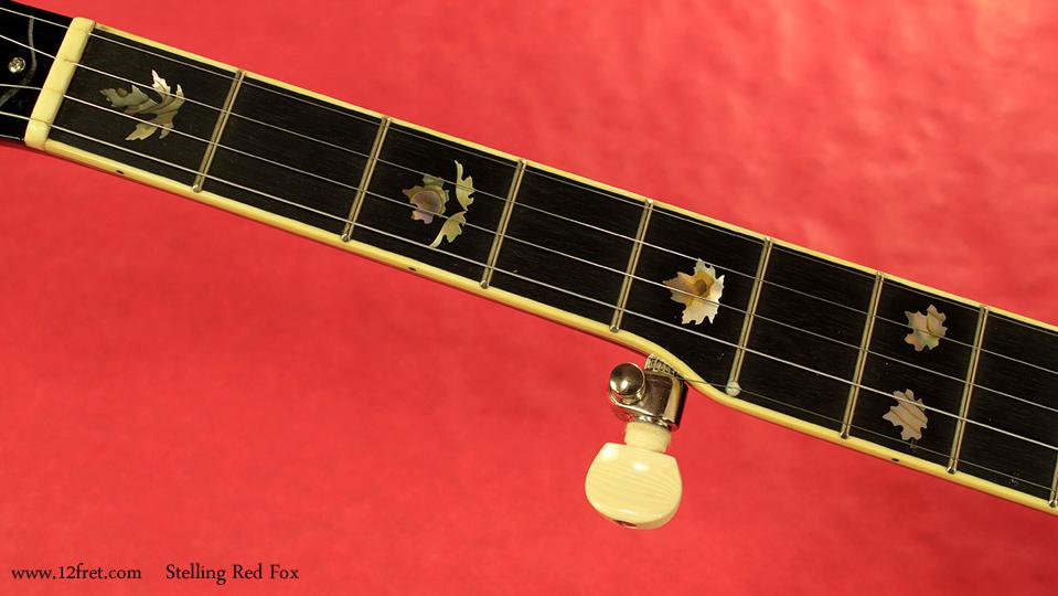 Stelling Red Fox Banjo fingerboard inlay 1