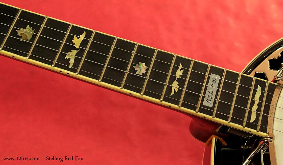 Stelling Red Fox Banjo fingerboard inlay 2