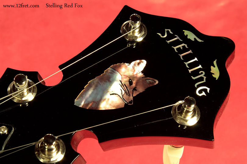 Stelling Red Fox Banjo headstock inlay