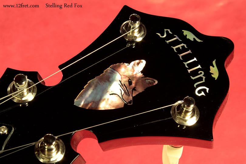 Stelling Red Fox Banjo headstock inlay