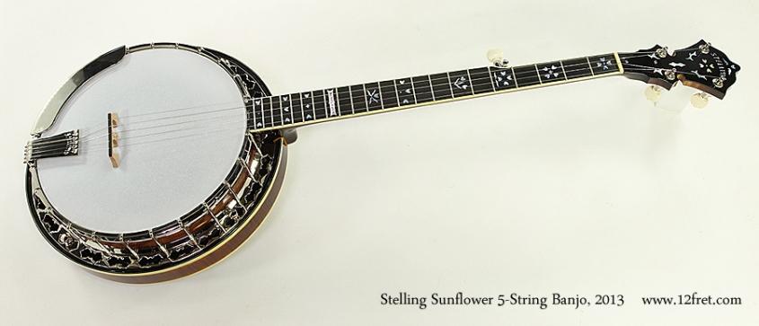 Stelling Sunflower 5-String Banjo, 2013 Full Front View