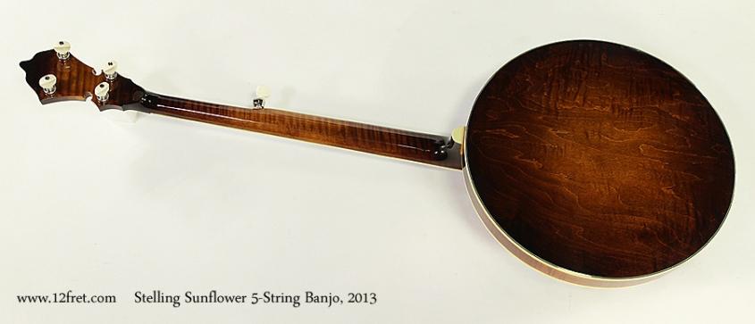 Stelling Sunflower 5-String Banjo, 2013 Full Rear View