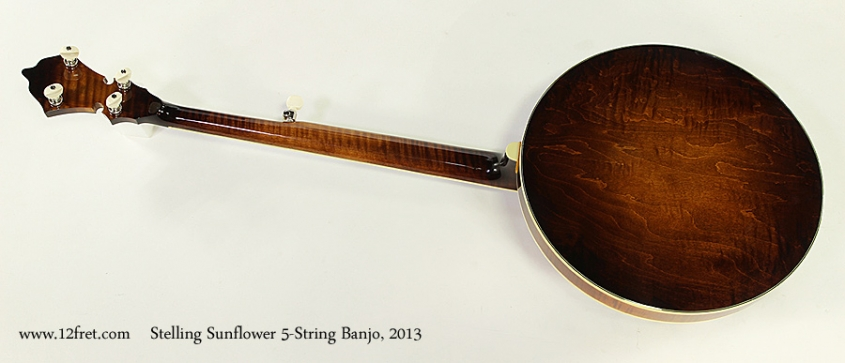 Stelling Sunflower 5-String Banjo, 2013 Full Rear View