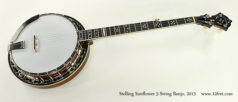 Stelling Sunflower 5-String Banjo, 2013 Full Front View