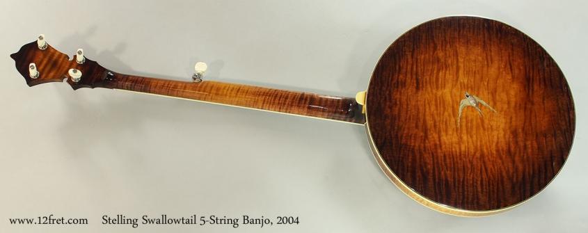 Stelling Swallowtail 5-String Banjo, 2004 Full Rear View