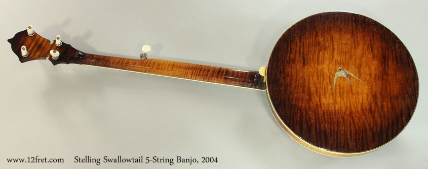 Stelling Swallowtail 5-String Banjo, 2004 Full Rear View