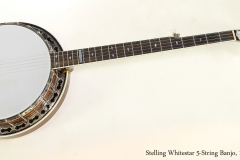 Stelling Whitestar 5-String Banjo, 1983  Full Front View