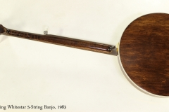 Stelling Whitestar 5-String Banjo, 1983  Full Rear View