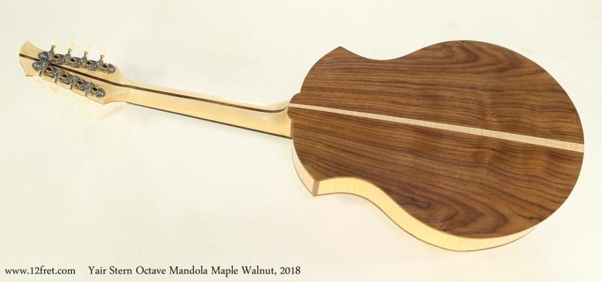 Yair Stern Octave Mandola Maple Walnut, 2018  Full Rear View