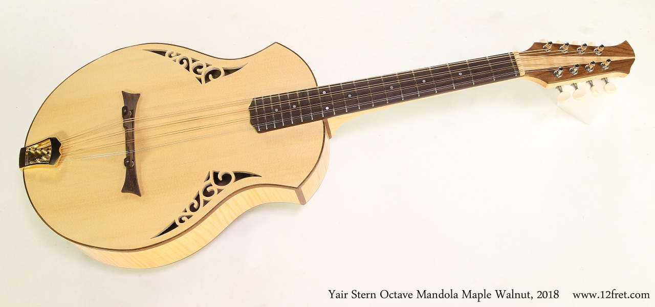 Yair Stern Octave Mandola Maple Walnut, 2018  Full Front View