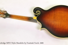 Stonebridge MFS F-Style Mandolin by Frantisek Furch, 2009  Full Rear View