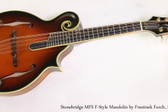 Stonebridge MFS F-Style Mandolin by Frantisek Furch, 2009  Full Front View
