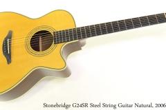 Stonebridge G24SR Steel String Guitar Natural, 2006 Full Front View