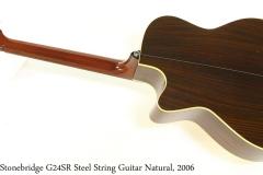 Stonebridge G24SR Steel String Guitar Natural, 2006 Full Rear View