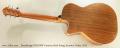 Stonebridge OM21SW Cutaway Steel String Acoustic Guitar, 2015 Full Rear View