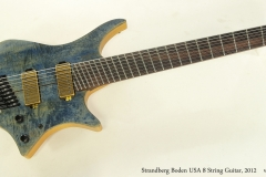 Strandberg Boden USA 8 String Guitar, 2012  Full Front View