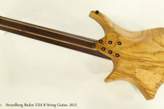 Strandberg Boden USA 8 String Guitar, 2012  Full Rear View