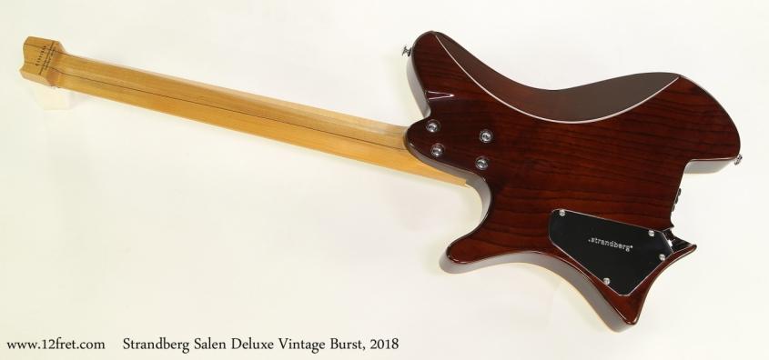 Strandberg Salen Deluxe Vintage Burst, 2018  Full Rear View