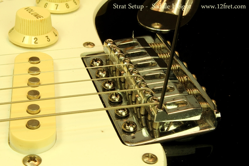 Strat Setup Part 3 - Action Adjustments - saddle heights