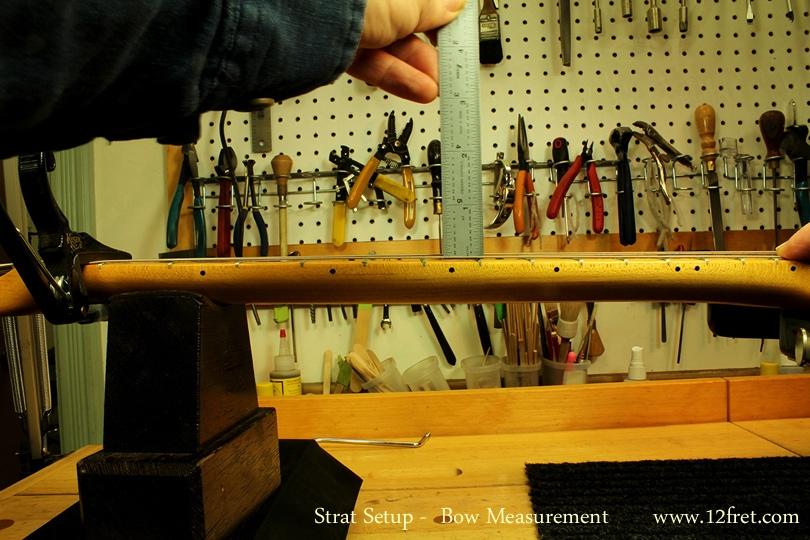 Strat Setup Part 3 - Action Adjustments - bow measurement