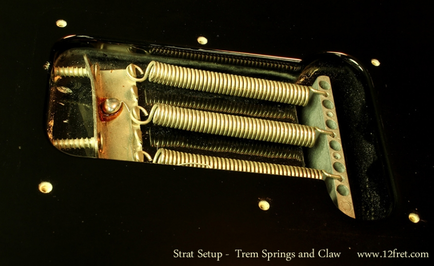 Strat Setup Part 3 - Action Adjustments - springs and claw