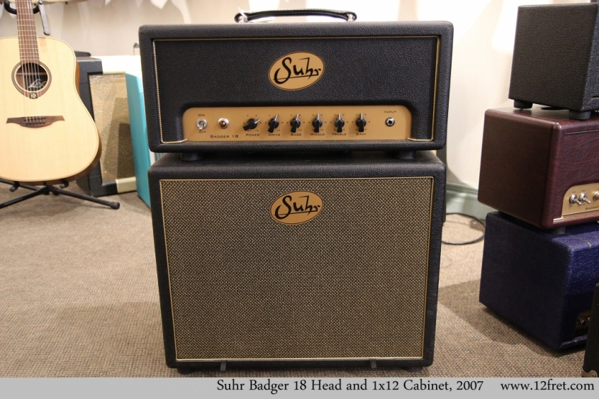 Suhr Badger 18 Head and 1x12 Cabinet, 2007 Full Front View