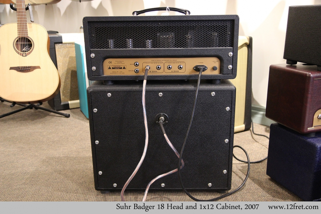 Suhr Badger 18 Head and 1x12 Cabinet, 2007 Full Rear View