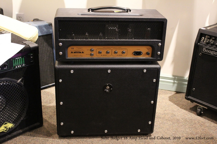 Suhr Badger 18 Amp Head and Cabinet, 2010 Full Rear View