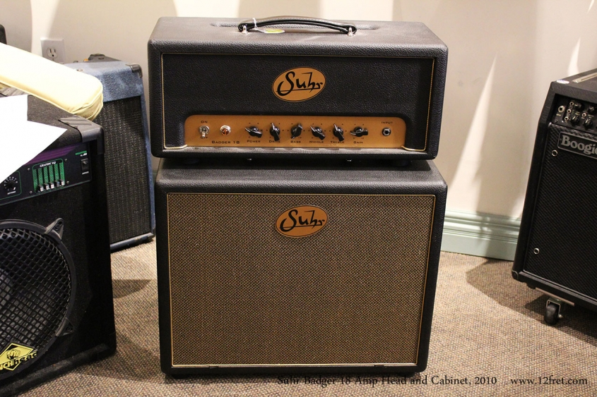 Suhr Badger 18 Amp Head and Cabinet, 2010 Full Front View
