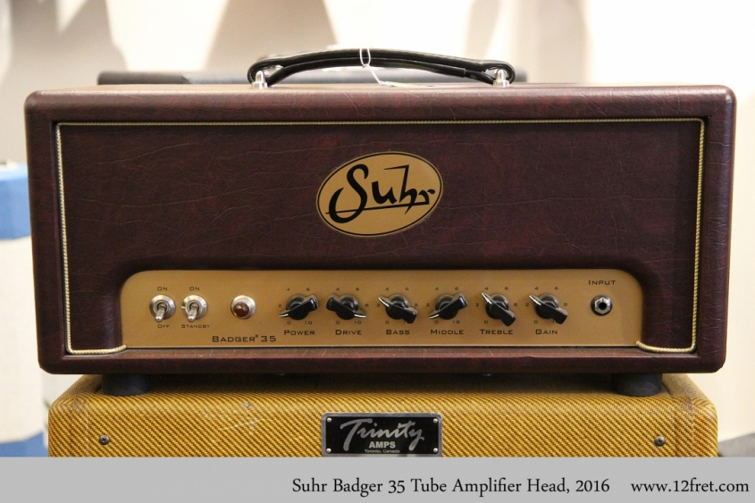 Suhr Badger 35 Tube Amplifier Head, 2016 Full Front View