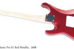 Suhr Classic Pro S1 Red Metallic,  2008 Full Rear View