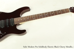 Suhr Modern Pro Solidbody Electric Black Cherry Metallic, 2011 Full Front View