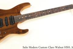Suhr Modern Custom Claro Walnut HSH, 2015 Full Front View