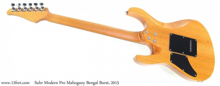 Suhr Modern Pro Mahogany Bengal Burst, 2015 Full Rear View