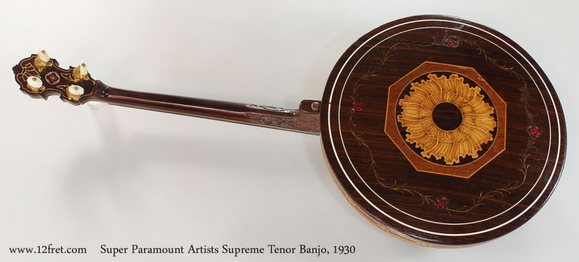 Super Paramount Artists Supreme Tenor Banjo, 1930 Full Rear View