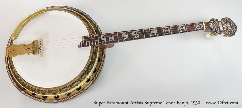 Super Paramount Artists Supreme Tenor Banjo, 1930 Full Front View