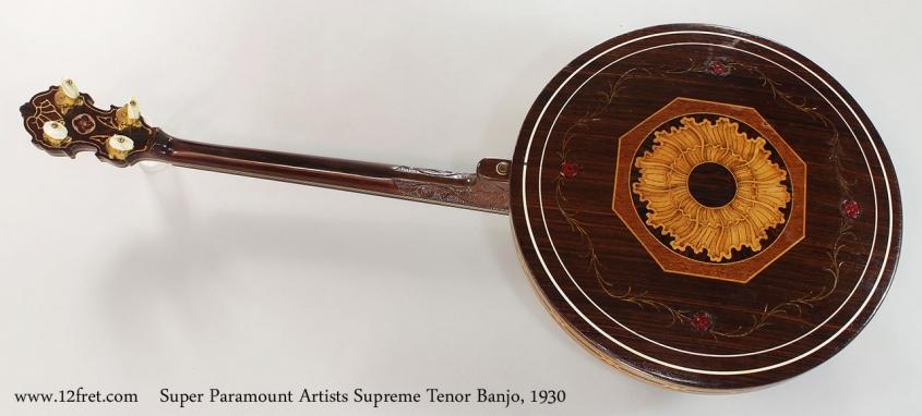 Super Paramount Artists Supreme Tenor Banjo, 1930 Full Rear View